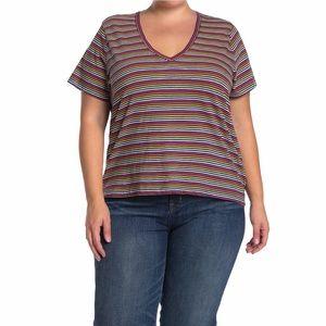 NWT MADEWELL striped V-Neck TShirt sz 2X